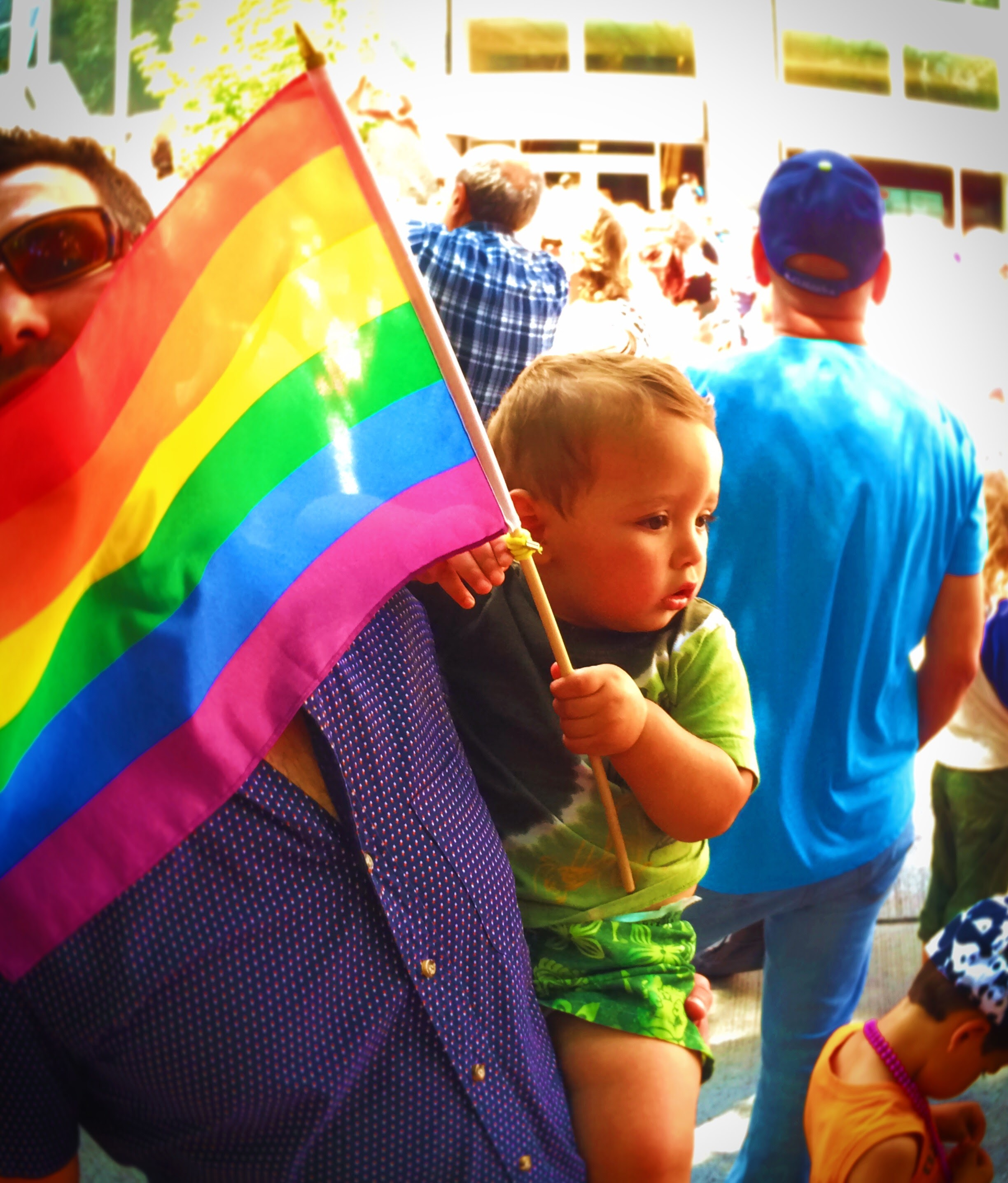 Taylor Family at Seattle Pride Parade 2016 2