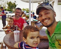Taylor Family at InNOut Burger California road trip