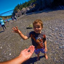 Taylor family at beach Deception Pass State Park Whidbey Island 3