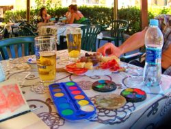 Meats Olives and Paints in Cinque Terre Italy 1e