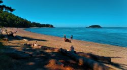 People on Beach at Deception Pass State Park Whidbey Island 2