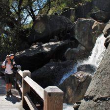 Rob Taylor and LittleMan at Wapama Falls at Hetch Hetchy Yosemite National Park 2