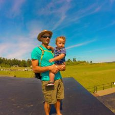 Rob Taylor and TinyMan at bunkers at Fort Casey Whidbey Island 1