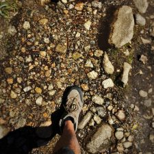 Rob Taylor crossing creek at Hetch Hetchy Yosemite National Park 1