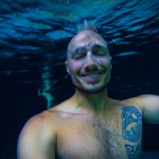 Rob Taylor underwater at Cenotes Dos Ojos