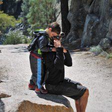 Rob Taylor using Piggyback Rider at Hetch Hetchy Yosemite National Park 5