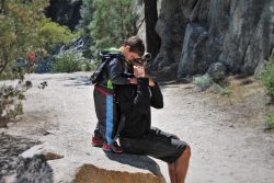 Rob Taylor using Piggyback Rider at Hetch Hetchy Yosemite National Park 5