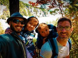 Taylor Family hiking at Deception Pass State Park Whidbey Island 1