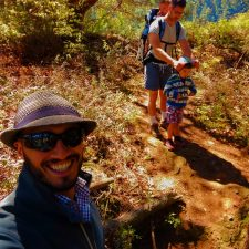 Taylor Family hiking at Deception Pass State Park Whidbey Island 2