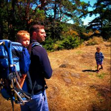 Taylor Family hiking at Deception Pass State Park Whidbey Island 3
