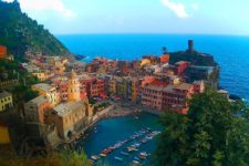 Vernazza from hiking trail Cinque Terre Italy 1e