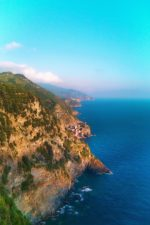 Vernazza from hiking trail Cinque Terre Italy 3e