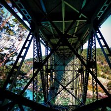 View of Deception Pass Bridge Deception Pass State Park Whidbey Island 4