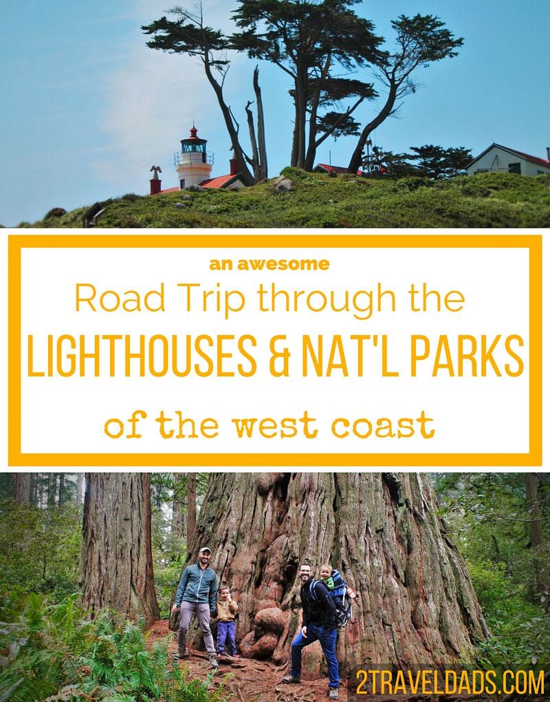 An ideal Northern California road trip through lighthouses and National Parks, and up onto the Oregon Coast. Amazing! 2traveldads.com