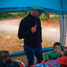 Chris Taylor and LittleMan camping at Cle Elum River campground 3