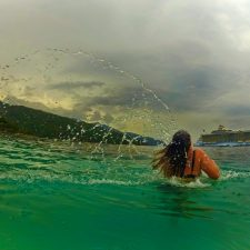 Friend Jenny swimming in Labadee Haiti with Oasis of the Seas Royal Caribbean 1