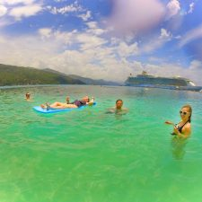 Friends swimming in Labadee Haiti with Oasis of the Seas Royal Caribbean 1