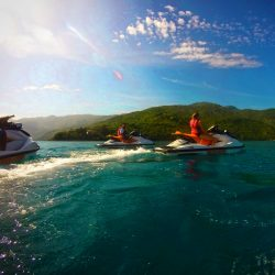 Jet skis on wave runner tour Labadee Haiti 2