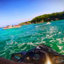 Jet skis on wave runner tour Labadee Haiti 3