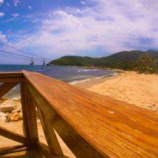 Beach and worlds longest zip line in Labadee Haiti 1