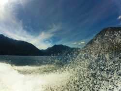 Boating at Lake Cushman Olympic Peninsula 1
