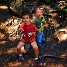 Taylor Kids having picnic at Silver Falls Mt Rainier National Park 1
