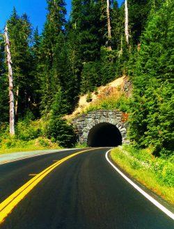 Tunnel on Chinook Pass Highway Mt Rainier National Park 1