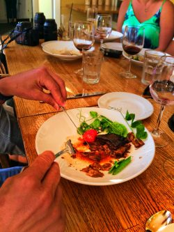Braised Wagyu beef and tomato destination dining Pretty Fork Inn at Ships Bay Orcas Island 2