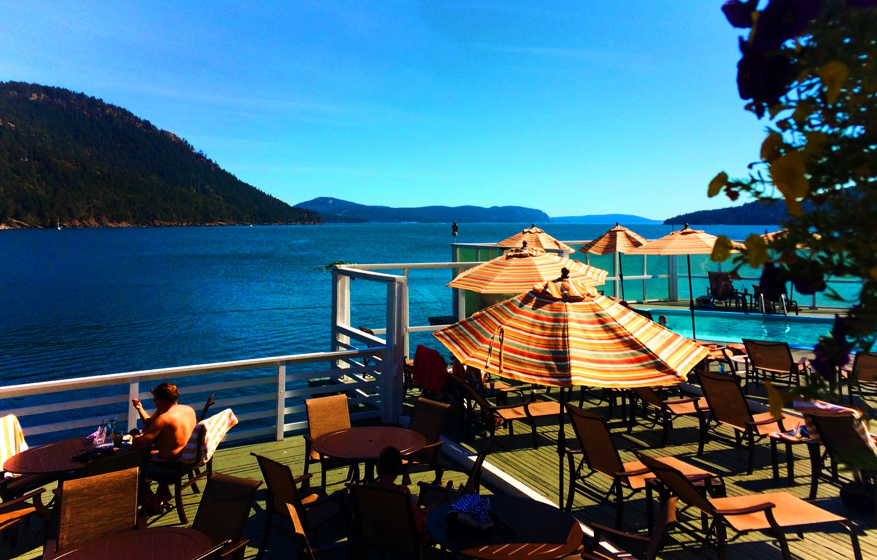 Deck at Rosario Resort Destination Dining Orcas Island with Pretty ...