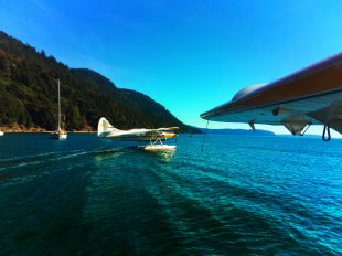 Kenmore Air seaplanes in harbor at Orcas Island Rosario Resort 1