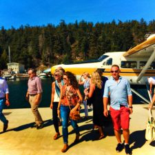 Pretty Fork Destination Dining guests with Kenmore Air Seaplane Orcas Island 1