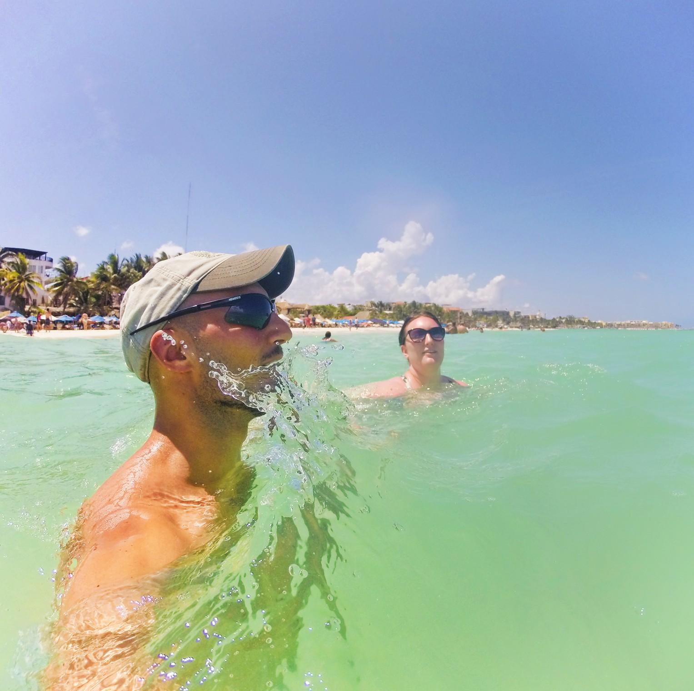 Rob Taylor simming at Beach at Playa del Carmen Mexico 2