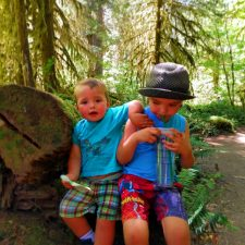 Taylor Kids in Hoh Rainforest 2016 1