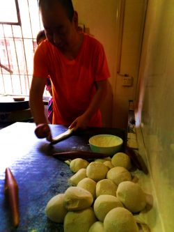 Making Chinese buns in Xian Shaanxi China 1