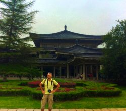 Rob Taylor at Xian historical museum 1