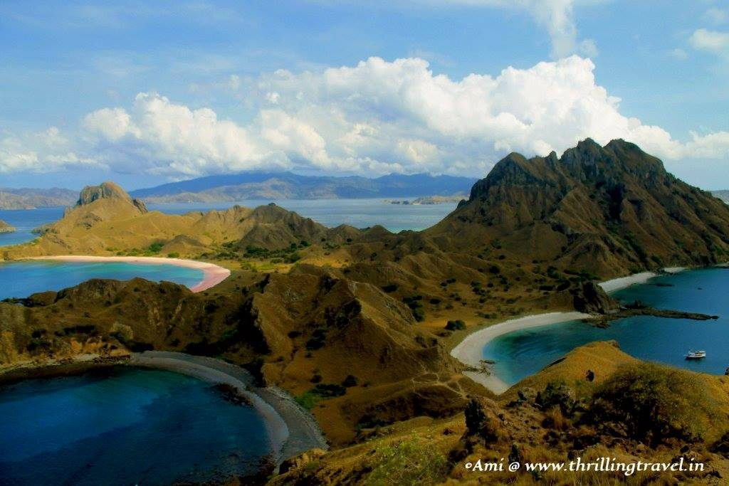 Tri-colored beaches of Padar Indonesia Thrilling Travel
