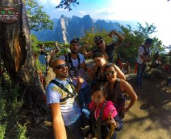Death Planks hiking group Huashan National Park