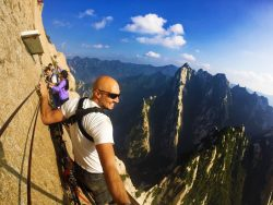 Rob Taylor on Death Planks hike Huashan National Park 7