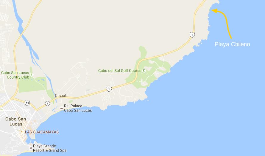 Chileno Beach Cabo San Lucas Map