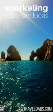 Complete guide to snorkeling in and around Cabo San Lucas, San Jose del Cabo, Cabo Pulmo National Park and more. Los Cabos family travel snorkeling guide shows you where to go, options for tours, or how to snorkel the Sea of Cortez on your own, including off the beaten path Cabo. 2traveldads.com