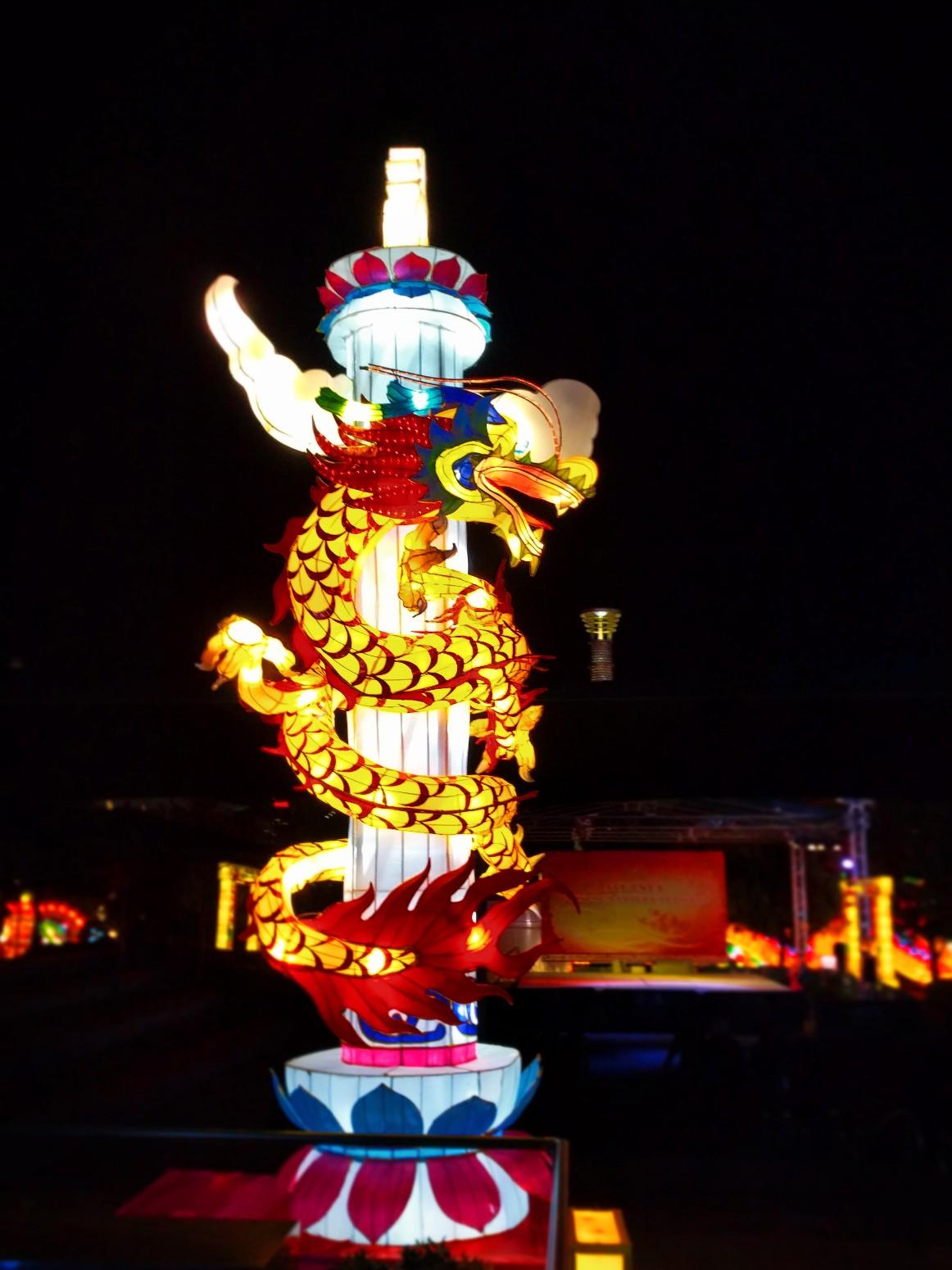 dragon lantern at chinese lantern festival atlanta 1 2 travel dads. Black Bedroom Furniture Sets. Home Design Ideas