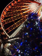 Skyview Atlanta ferris wheel at night 6
