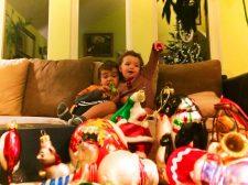 Taylor Family decorating Christmas tree 2016 2