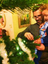 Taylor Family decorating Christmas tree 2016