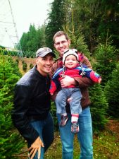 Taylor Family portrait getting Christmas Tree 2012