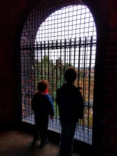 Taylor Kids climbing Volunteer Park Water Tower Capitol Hill Seattle 5