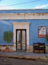Blue Doorway in Old Town Todos Santos Baja California Sur 1