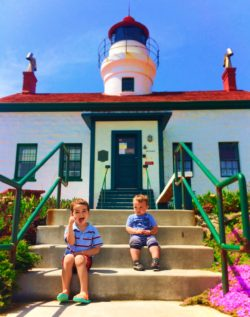 2TD Kids at Battery Point Lighthouse