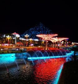 Baoji Colorful Fountains at Night Shaanxi 4