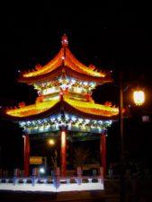 Baoji Colorful Lit Pagoda at Night Shaanxi 1
